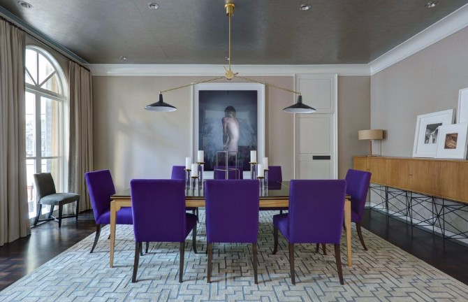 purple rooms 10 Vibrant Purple Rooms with Console Tables Vibrant Purple Rooms with Console Tables4