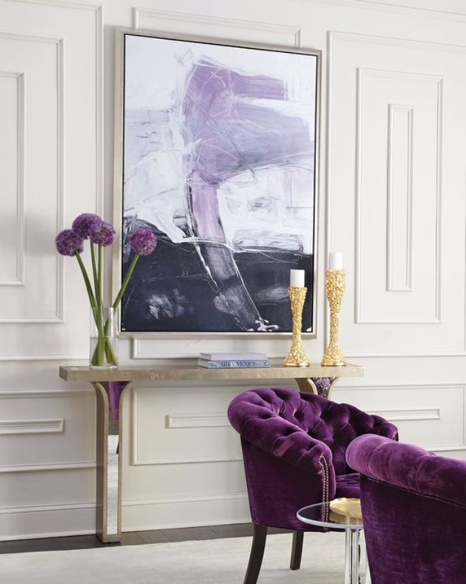 purple rooms 10 Vibrant Purple Rooms with Console Tables Vibrant Purple Rooms with Console Tables5