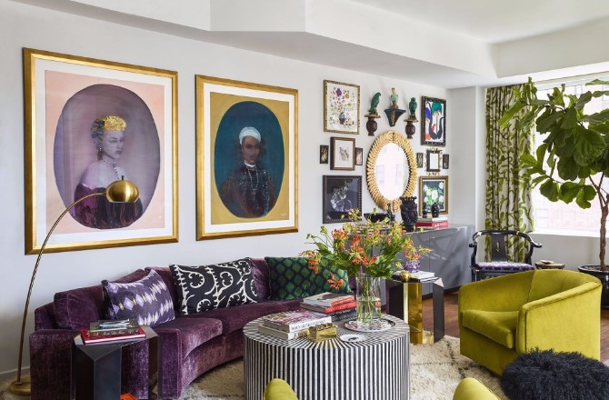 purple rooms 10 Vibrant Purple Rooms with Console Tables Vibrant Purple Rooms with Console Tables7