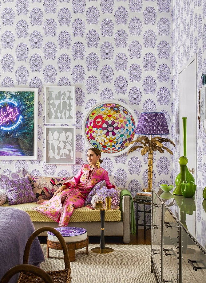 purple rooms 10 Vibrant Purple Rooms with Console Tables Vibrant Purple Rooms with Console Tables8