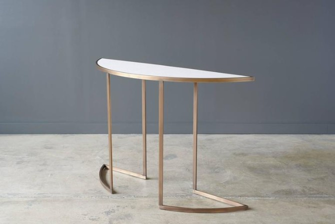half moon console Wonderful Half Moon Console Tables You Need To See Wonderful Half Moon Consoles You Need To See6