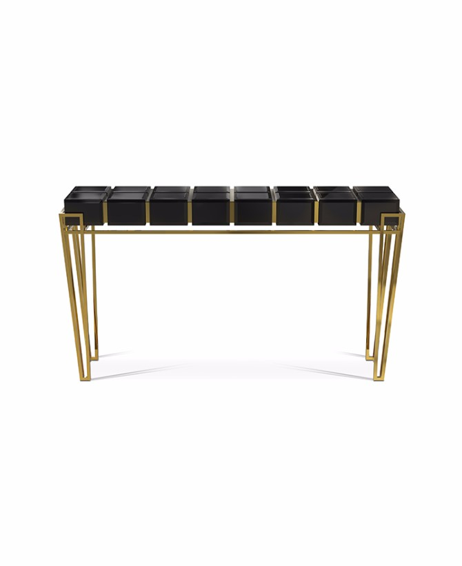 black console table Most Beautiful Black Console Tables You Can Find nubian