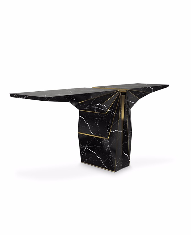black console table Most Beautiful Black Console Tables You Can Find suspicion