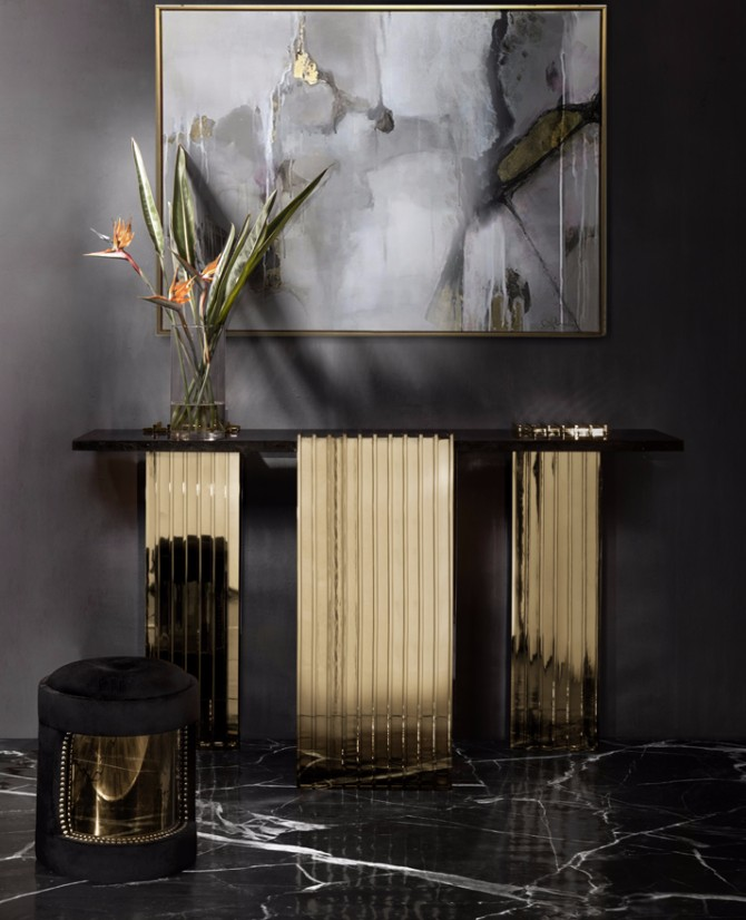 black console table Most Beautiful Black Console Tables You Can Find vertigo