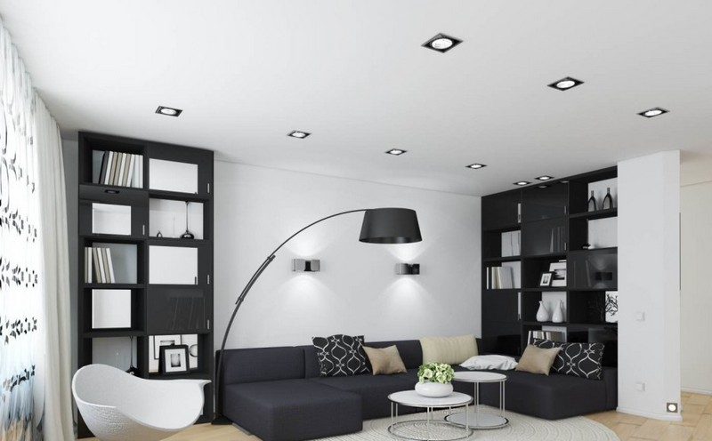 Living Room Design inspiration: Black and White Living Room Design inspiration Black and White Living Room10