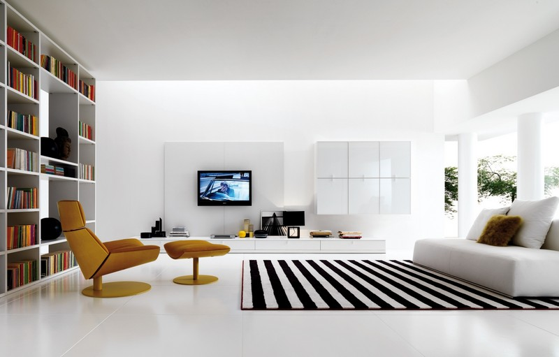 Living Room Design inspiration: Black and White Living Room Design inspiration Black and White Living Room11