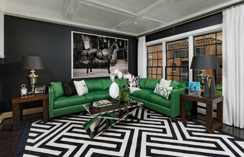 Living Room Design inspiration: Black and White Living Room Design inspiration Black and White Living Room15