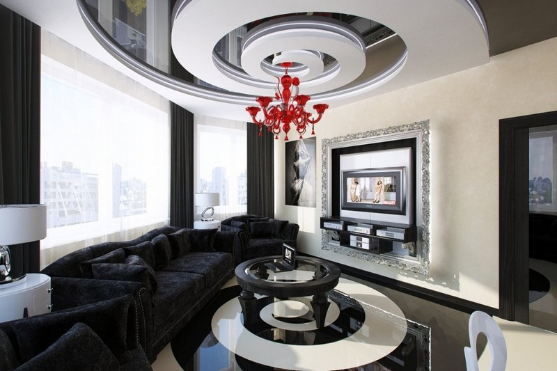 Design inspiration: Black and White Living Room Living Room Design inspiration: Black and White Living Room Design inspiration Black and White Living Room17