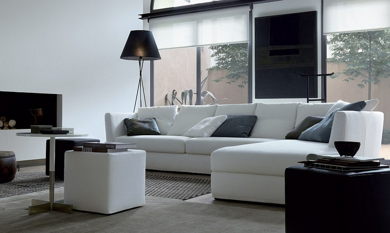 Living Room Design inspiration: Black and White Living Room Design inspiration Black and White Living Room18