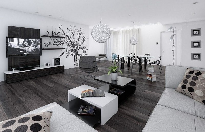 Living Room Design inspiration: Black and White Living Room Design inspiration Black and White Living Room2