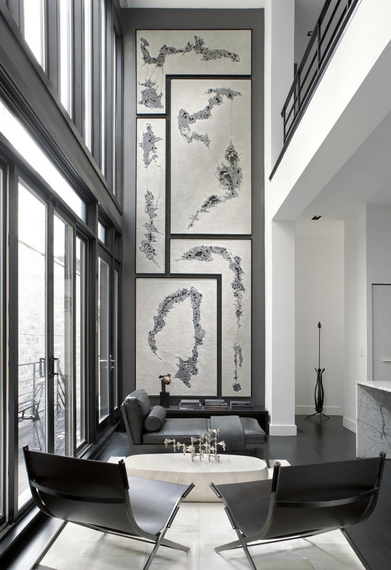 Living Room Design inspiration: Black and White Living Room Design inspiration Black and White Living Room6