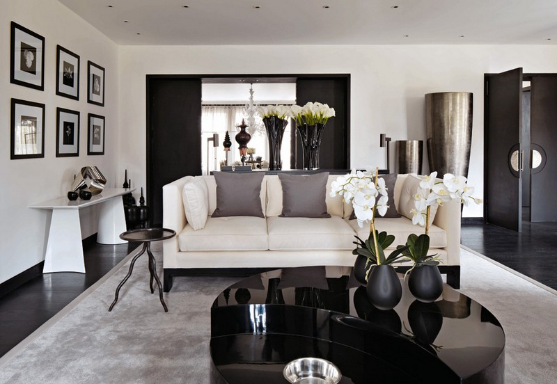 Living Room Design inspiration: Black and White Living Room Design inspiration Black and White Living Room8
