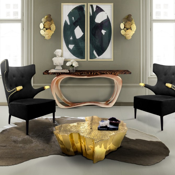 living room Living Room Ideas with Contemporary Console Tables Infinity Boca do Lobo