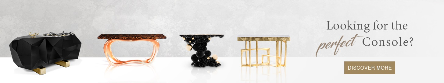 console tables Home and Living 2018: Modern Console Tables banner 1
