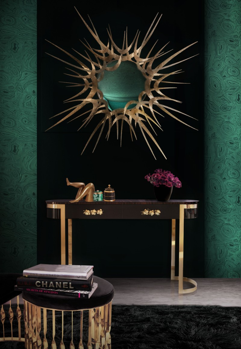 Autumn Trends – Discover Some Metal Console Tables metal console tables Autumn Trends – Discover Some Metal Console Tables Black Console Tables Are A Trend To Stay orchidea console