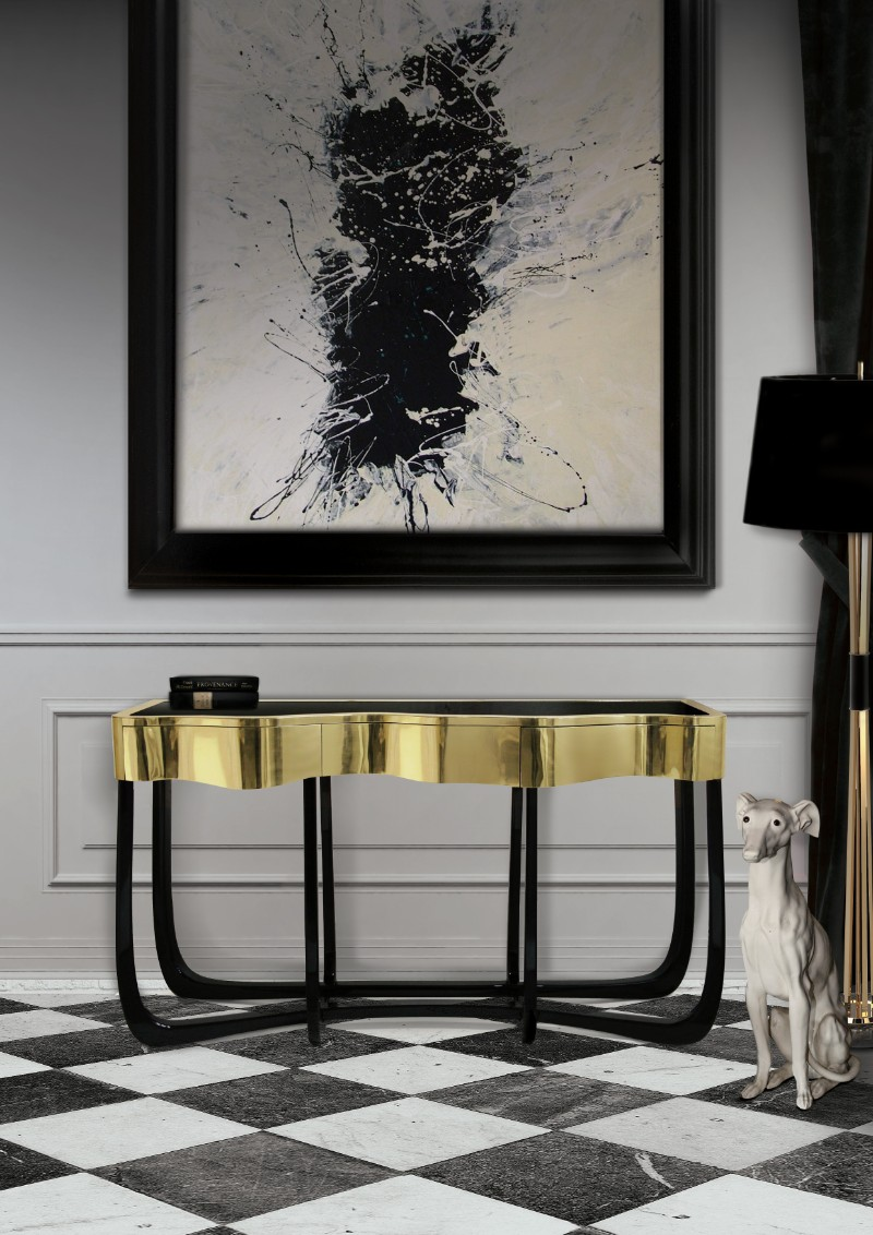 console tables Eye-Catching Console Tables That Fit Your Living Room And Entryway Sinuous
