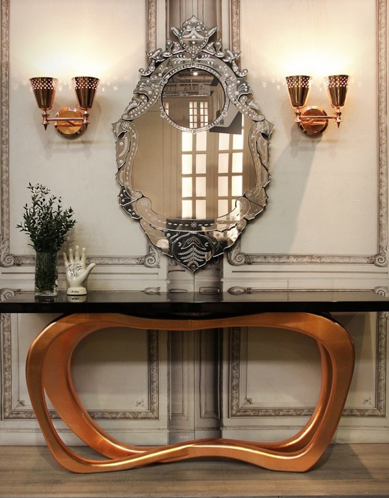 console table Console Table The Best Modern Mirrors to Hang Over a Console Table The Best Modern Mirrors to Hang Over a Console Table15