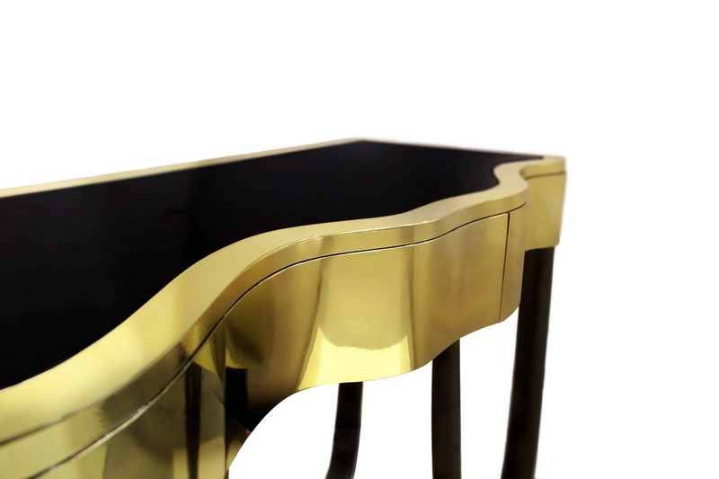 Console tables Top Black and Gold Console Tables for Your Interior Top Black and Gold Console Tables for Your Interior 2
