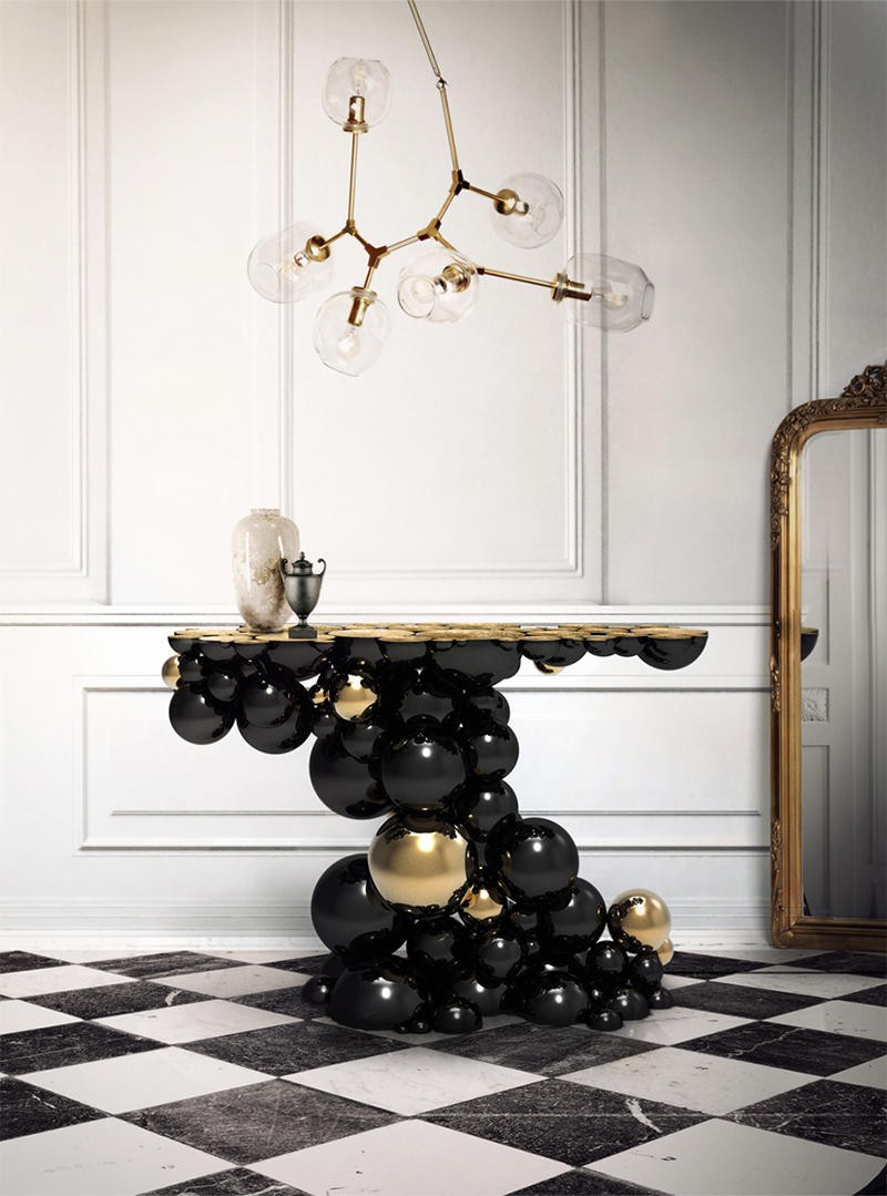 Console tables Top Black and Gold Console Tables for Your Interior Top Black and Gold Console Tables for Your Interior 6