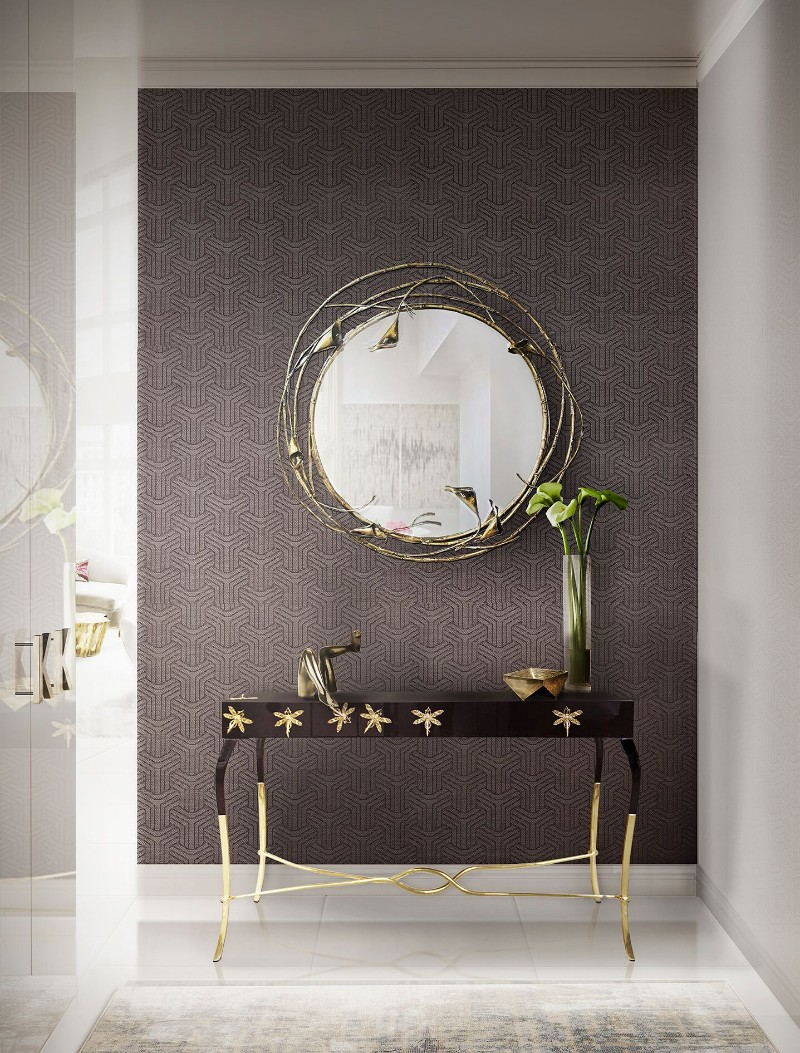 console table 9 Wall Mirrors to Match Your Console Table stella mirror koket