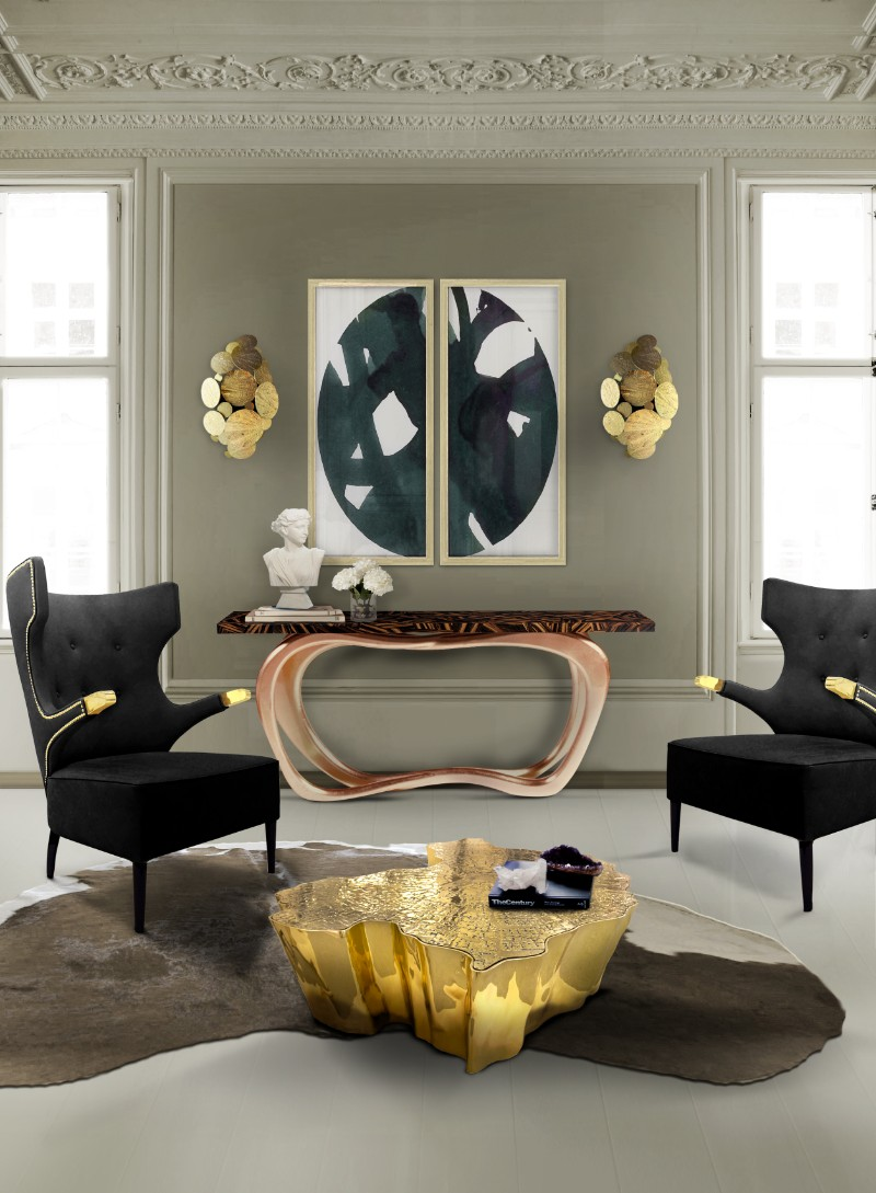 console tables Eye-Catching Console Tables That Fit Your Living Room And Entryway infinity console 2