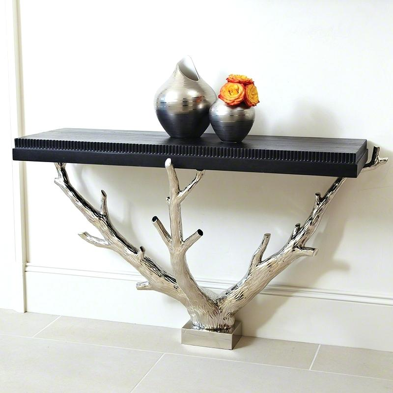 Wood console tables 15 Wood Console Tables For Your Living Room 15 Wood Console Tables For Your Living Room13