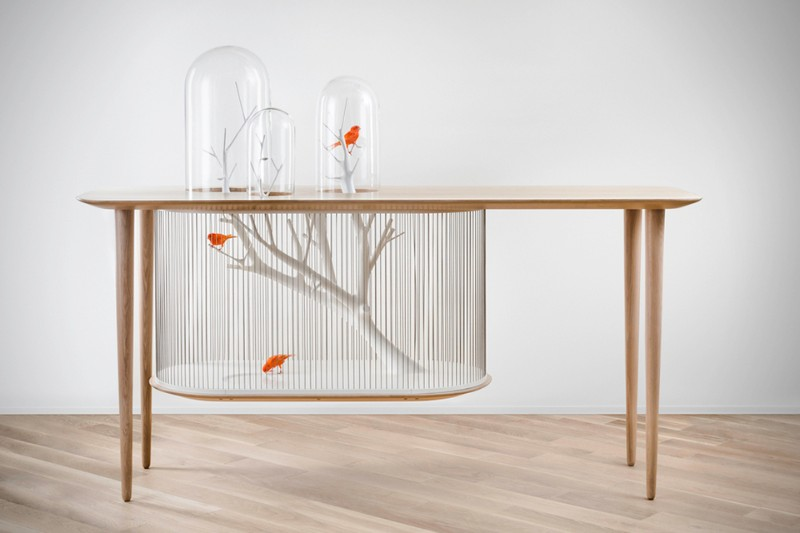 Modern console tables: the bird in the cage Modern console table Modern console tables: the bird in the cage Archibird Cage Table 1