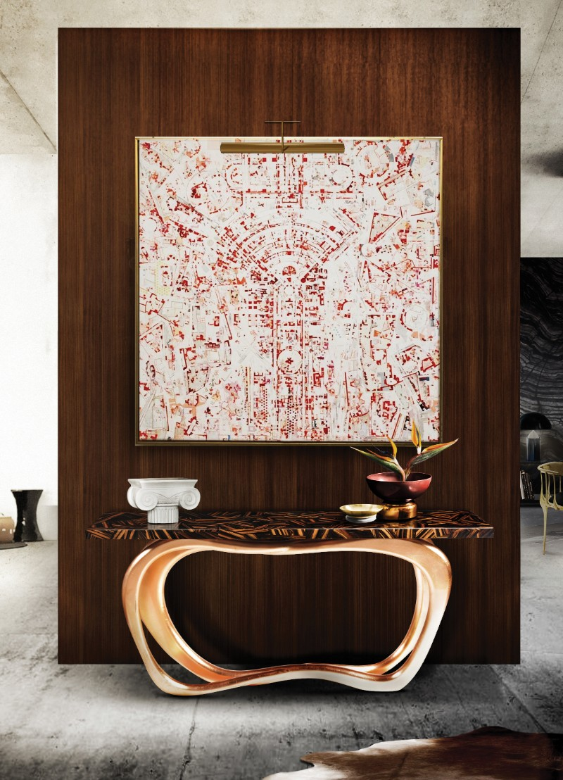 Contemporary Decor Create a Contemporary Decor With This Console Tables Ideas Infinity by Boca do Lobo 1