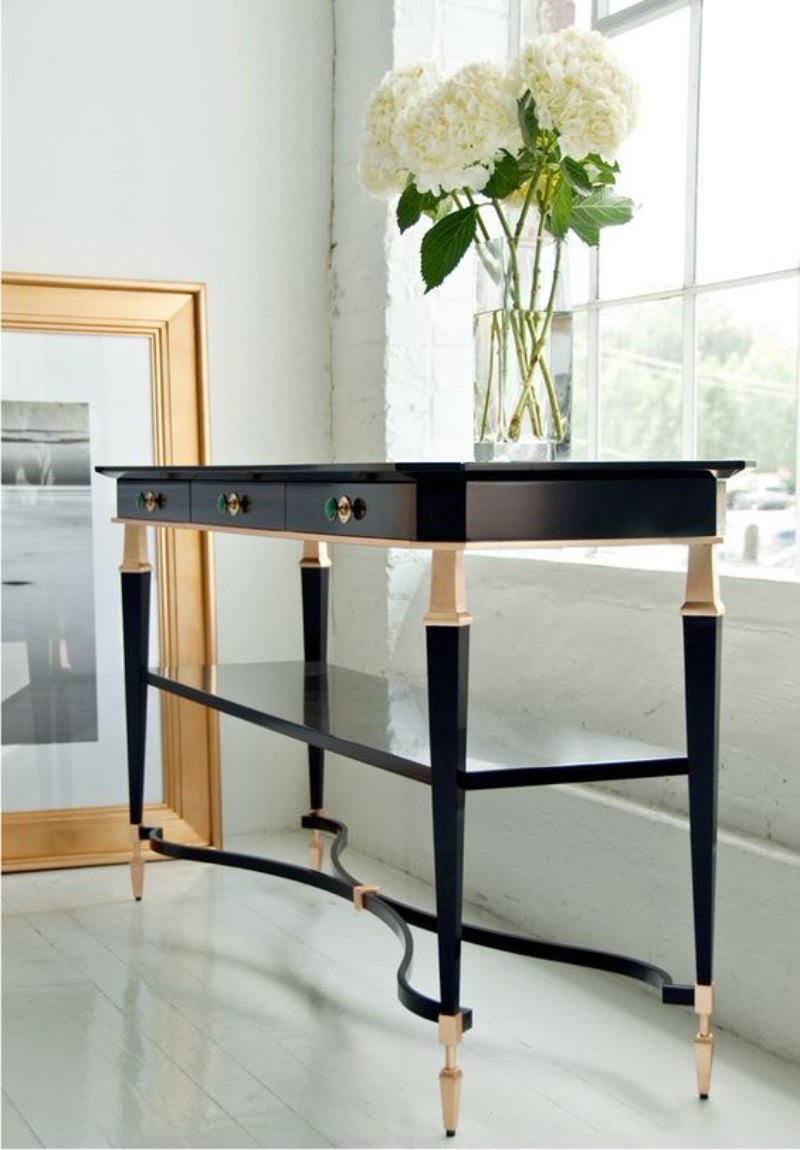 where your console table will fix perfectly. Black Bedroom Furniture Sets. Home Design Ideas