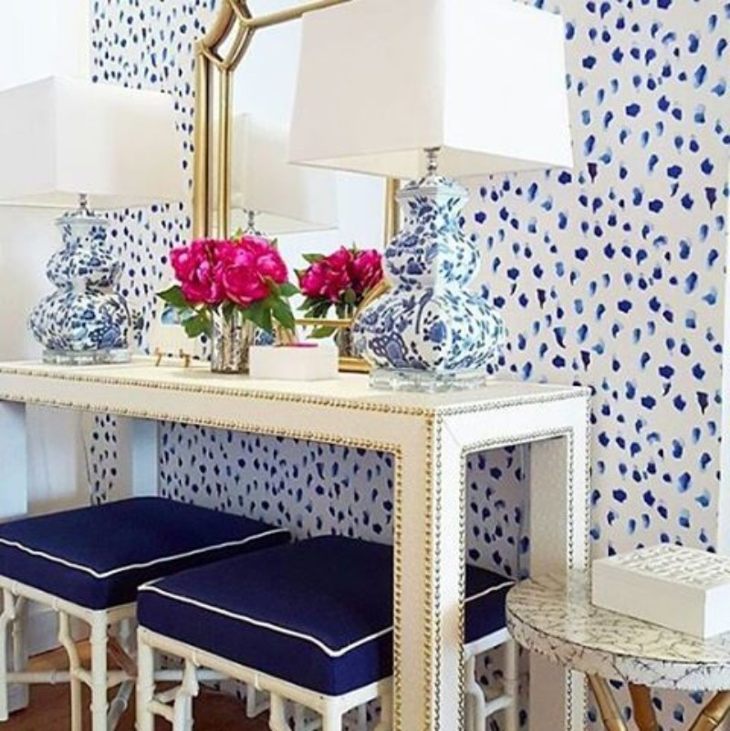 navy-blue The Best Navy-Blue Modern Console Tables Ideas The Best Blue Modern Console Tables Ideas 8