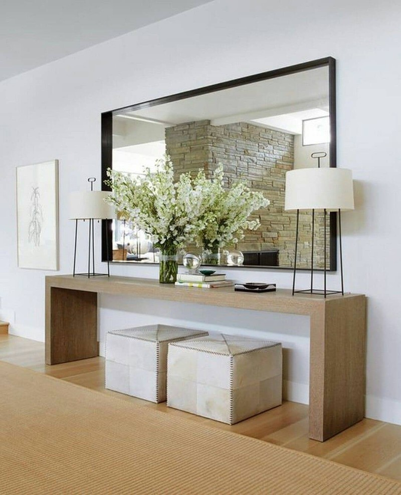 benches benches Two Benches Below a Console Table: the Trend That You Need To Know Two Benches Below a Console Table the Trend That You Need To Know 3