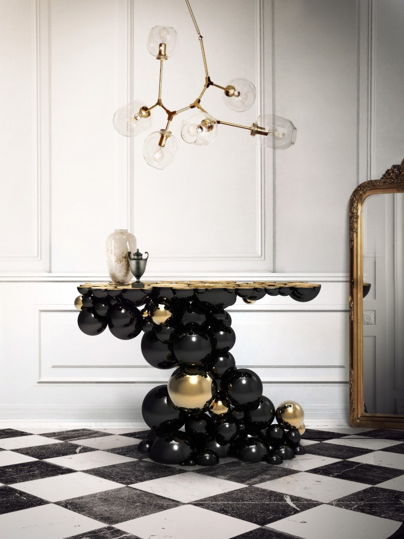 black console tables Black Console Tables and Sideboards For The Most Luxury Home Decor newton console 1