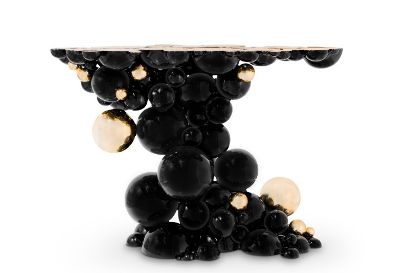black console tables Black Console Tables and Sideboards For The Most Luxury Home Decor newton