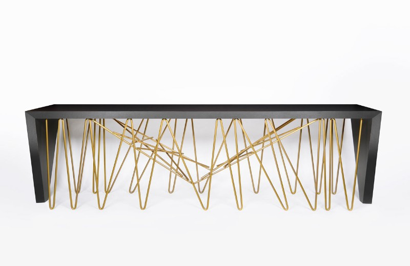 Modern console table Chaos Modern Console Table By Consentino and Daniel Germani Dekton DanielGermani Chaos 1