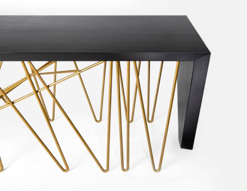 Modern console table Chaos Modern Console Table By Consentino and Daniel Germani Dekton DanielGermani Chaos 2