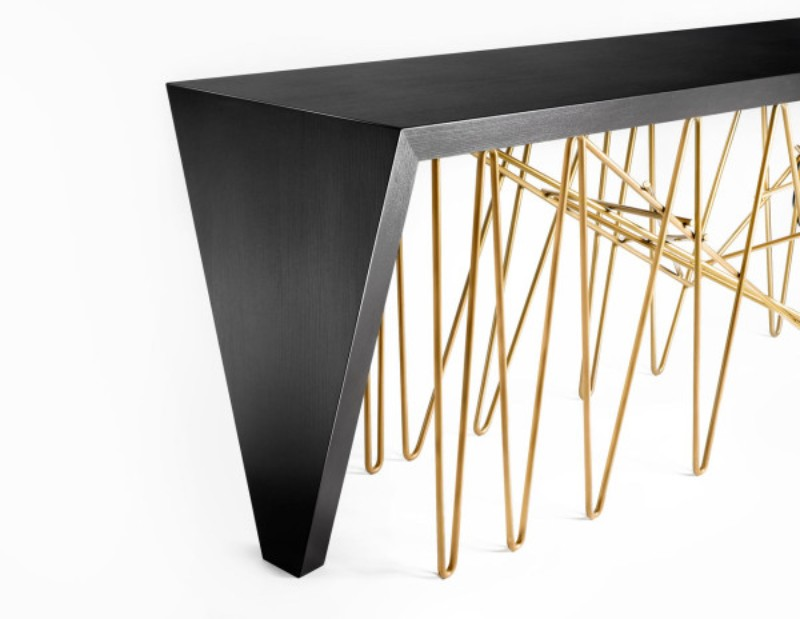 Modern console table Chaos Modern Console Table By Consentino and Daniel Germani Dekton DanielGermani Chaos 4 600x464