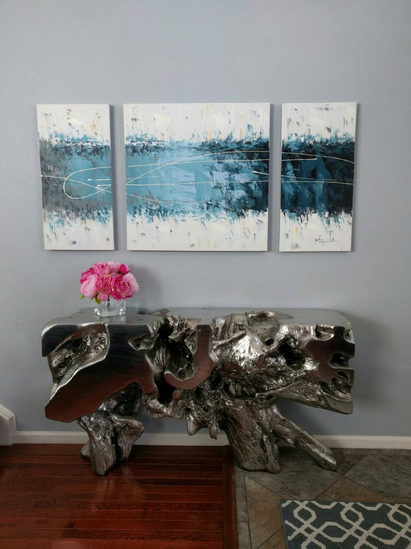 wall painting Outstanding Wall Painting Ideas To Stand Above A Console Table Outstanding Wall Painting Ideas To Stand Above A Console Table 7 1