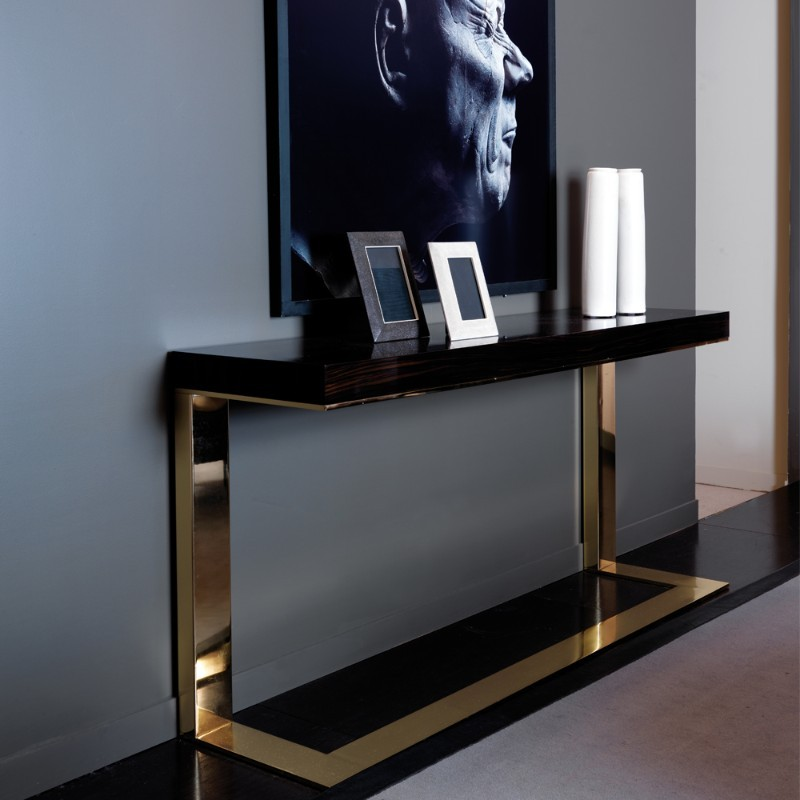 Trend Alert: A Modern Console Table With A Frame Above