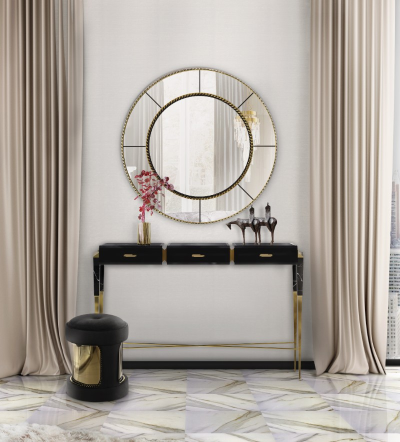 entryway decor 8 Console Table Designs For The Most Contemporary Entryway Decor crown mirror cover 01