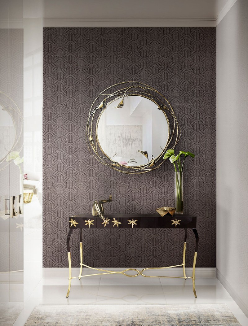 entryway decor 8 Console Table Designs For The Most Contemporary Entryway Decor koket
