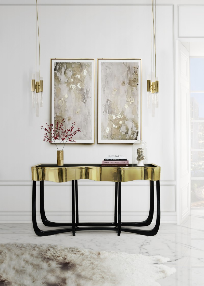 entryway decor 8 Console Table Designs For The Most Contemporary Entryway Decor waterfall pendant 05