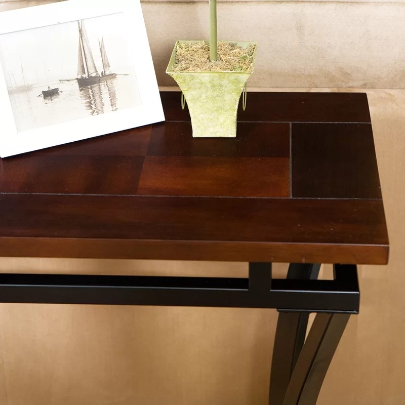 Rustic Console Tables that never Passed Out of Fashion rustic console tables Rustic Console Tables that never Passed Out of Fashion EdisonConsoleTable 1