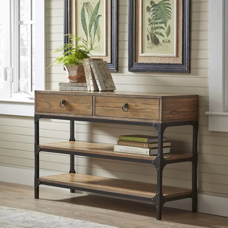 rustic console tables Rustic Console Tables that never Passed Out of Fashion TannerConsoleTable
