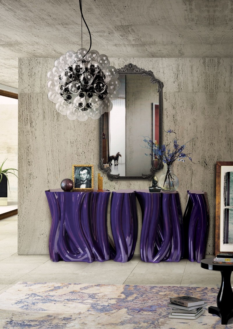 console tables Get inspired with Striking Console Tables for your Entry Hall Monochrome Boca do Lobo