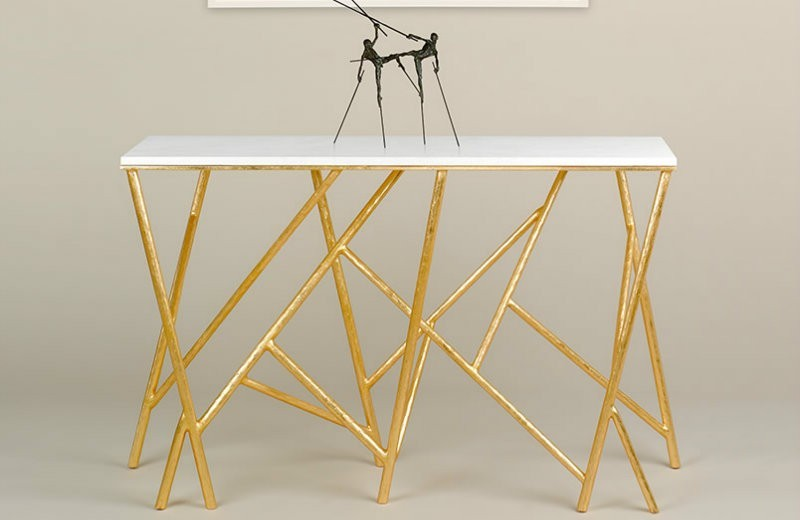 modern console tables Trends 2018: Golden Modern Console Tables t49 1