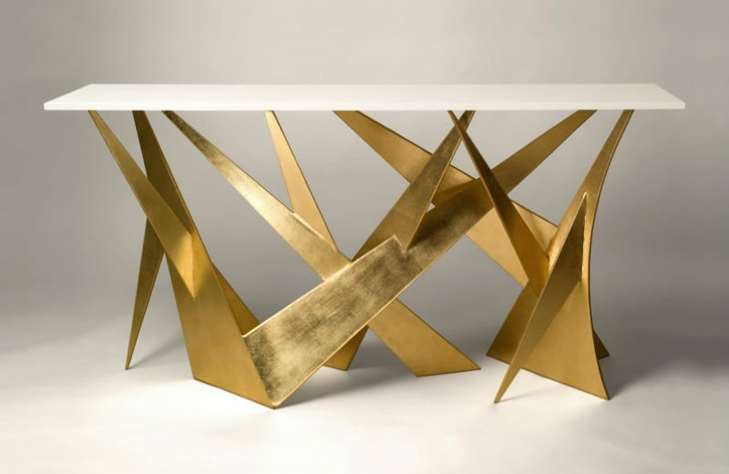 modern console tables Trends 2018: Golden Modern Console Tables t75 1