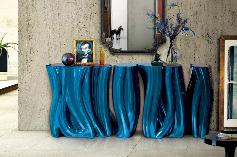 console design Colorful Console Design For Contemporary Interiors Monochrome Console Table by Boca do Lobo 2
