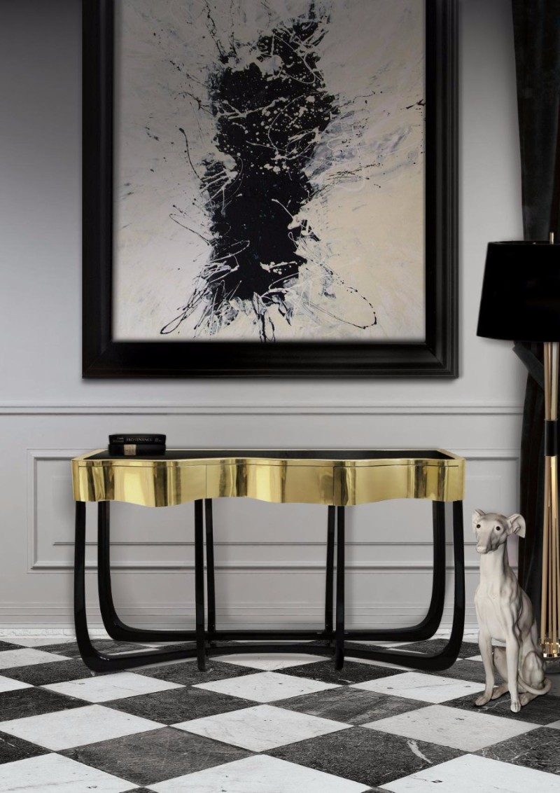 black console tables Luxury Black Console Tables For A Modern Living Room Sinuous Console Table by Boca do Lobo