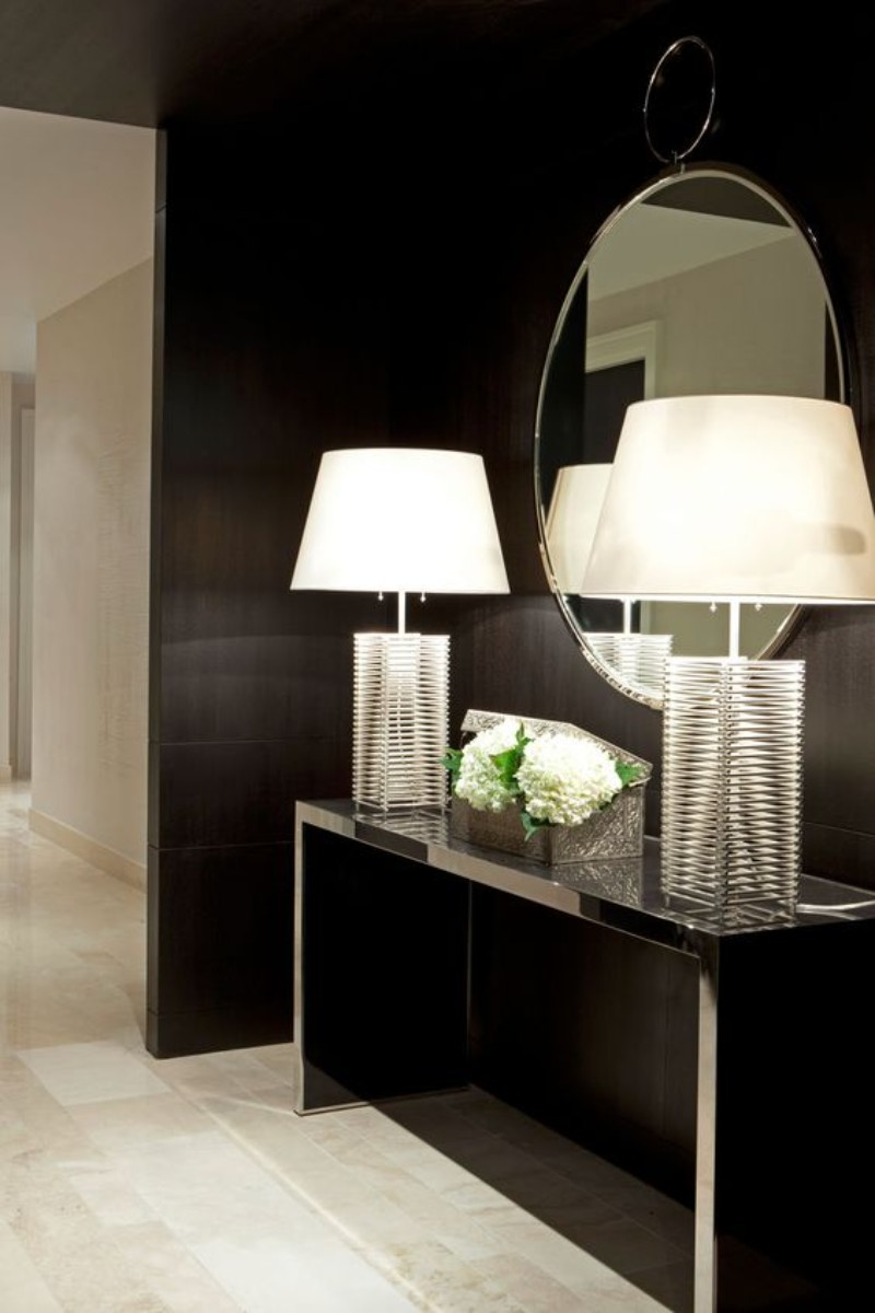 black console tables Luxury Black Console Tables For A Modern Living Room black console table for living room 12