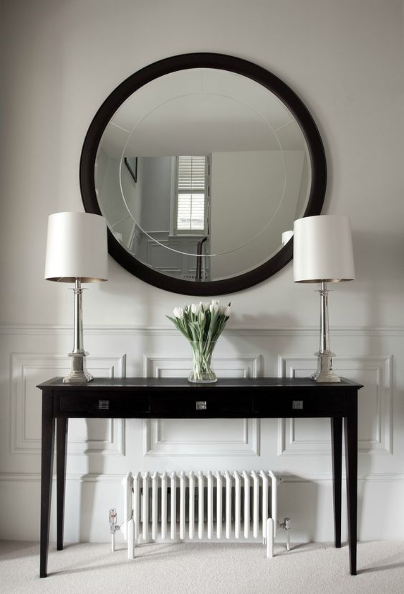 black console tables Luxury Black Console Tables For A Modern Living Room black console tables for living room 13
